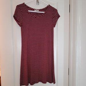 Olivia Rae Scoop Neck Striped Mini Dress S
